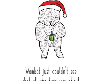 This item is unavailable funny christmas cardaustralian christmas cardwombat card m4hsunfo