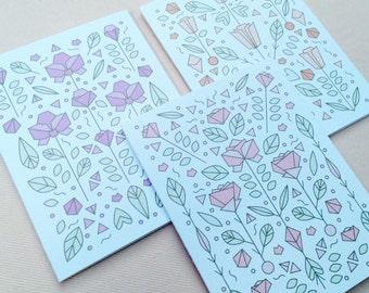 Art Nouveau Floral Notecard Set