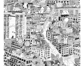 TV City (PRINT) How many TV shows can you find? (50cmx50cm)