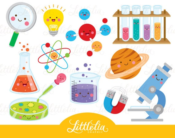 science kawaii clipart scientist clipart 16035 rh etsy com physical science clipart images Science Experiment Clip Art