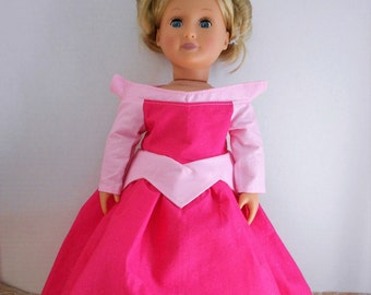 Princess Aurora Sleeping Beauty dress for American Girl doll and other 18 inch dolls