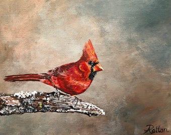 Cardinal art, cardinal print, bird print, gift for her, gift for him, cardinal bird, wall art, wall decor, print of bird, gift for mom