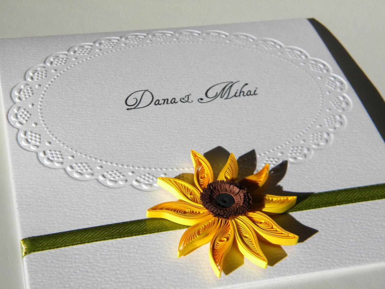 Sonnenblume-Hochzeitseinladung / Elegant Sonnenblume Einladung - Einladungskarte Sonnenblume