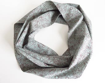 Liberty Lawn 'Powell Cat Aqua' Infinity Scarf
