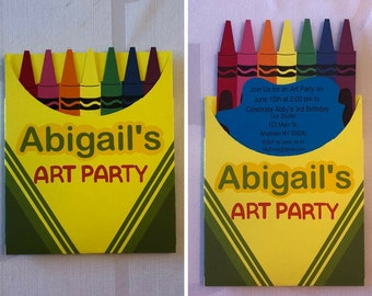 Crayon Box Invitation