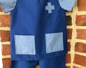 Kid Scrubs - Toddler Scrubs, Doctor Costume, Nurse Kid Costume, Baby Scrubs
