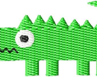 Alligator Machine Embroidery Design Mini