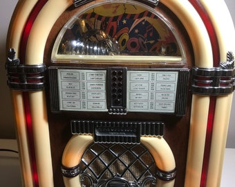 1996 Vintage Spirit Of St. Louis AM FM Cassette Light Up Juke Box