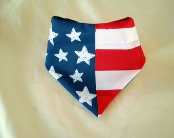 Bandana Bib Independence Day, July 4, Patriotic colors