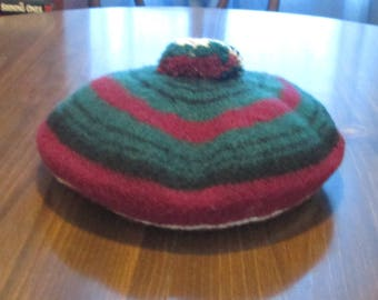 Stewart of Bute Tam Made in Scotland of 100 % Pure Wool - Vintage Scottish Hat Cap