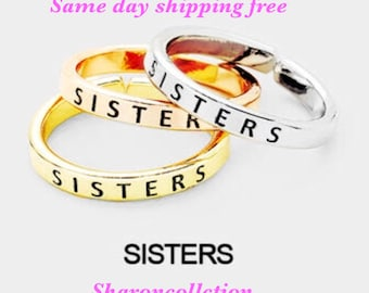 SISTER , inspired ring ( only one chose primary color)