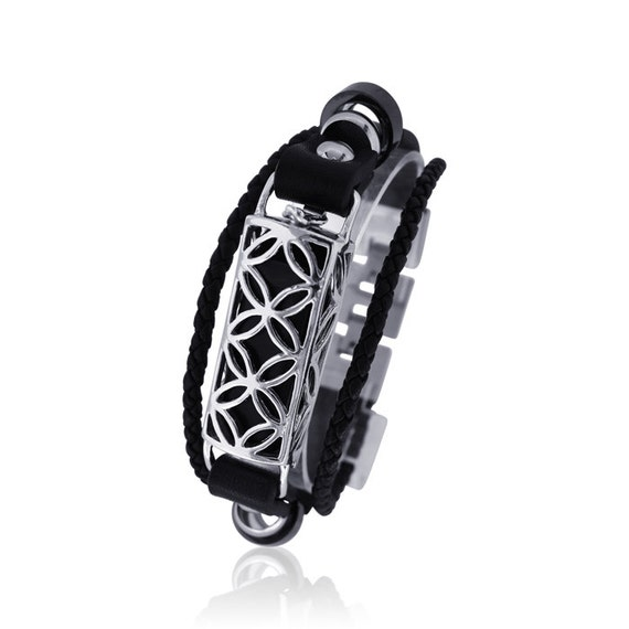 Bracelet FUSION - Flex Jewelry - made from 925 sterling silver and leather
