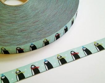 "1m Woven Ribbon ""Pingupü"" iceblue 15 mm paulapü"