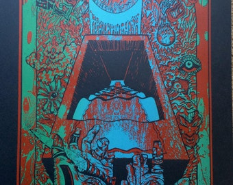 King Gizzard and The Lizard Wizard -  Hand-Printed Gigposter - Limited Edition