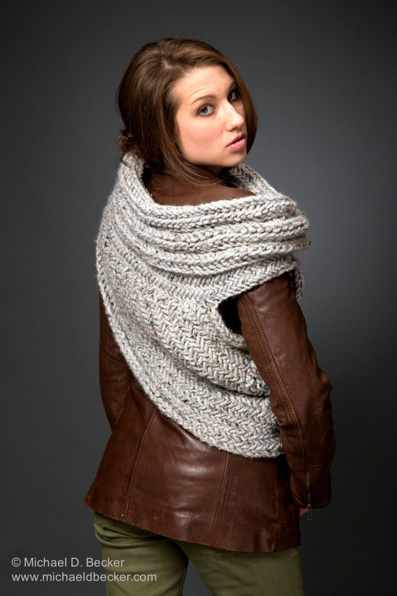 Huntress Cowl Scarf Post Apocalyptic Cowl Knitting Pattern By