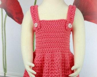 Crochet Baby Dress Pattern - 6mo, 9mo, 12mo, 2T, 3T, 4T, 5T - Pretty, Pretty Princess
