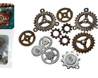 Steampunk Bag of Assorted Gears Accessorys Victorian Industrial fnt