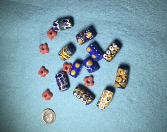 Assorted Handmade Moroccan Glass Beads