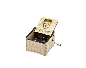 Love Me Tender - Personalised / Engraved Hand Crank Wooden Music box