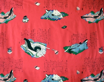 "Alexander Henry Asian Geisha Fabric ""Kinu"" Remnant Three Yards"