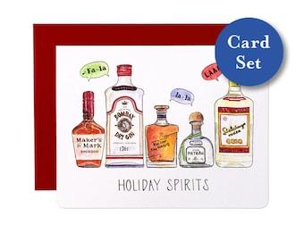 Holiday Spirits Card Set of 8