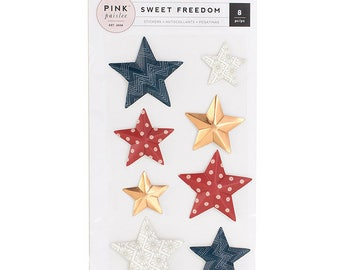 Pink Paislee Sweet Freedom 3D Stickers