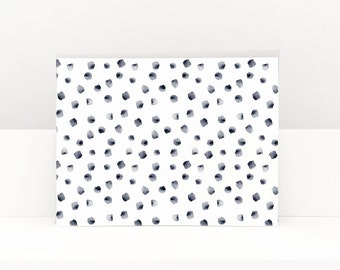 Blue Dots Greeting Card, Greeting Cards, Greeting Cards Handmade, Watercolor Greeting Cards, Blank Greeting Cards, Thank You Cards
