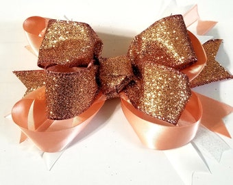 Big Glittery Stacked Boutique Bow