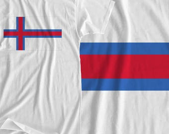 Faroe Islands - Flag - Iron On Transfer