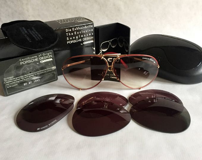 Porsche Design 5621 36 Vintage Sunglasses Full Set with 4 Pairs of Lenses New Old Stock