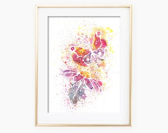 Nature Watercolor, Nature Painting, Nature Watercolor Painting, Home Decor, Printable Wall Art, Watercolor Printable, Nature Art Print