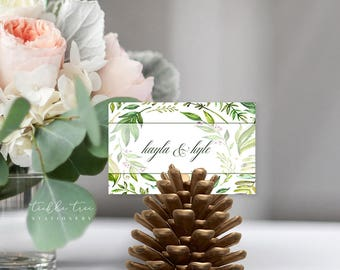 Breezy Leaf - Place Cards (Style 13701)