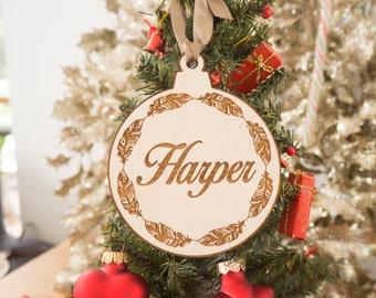 Kerst ornamenten - kerstversiering gepersonaliseerd - collega Gift - gepersonaliseerde Ornament - voornaam Ornament - houten Ornament