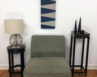 """wood art - """"All Buttoned Up"""" - wood wall art, wooden wall art, wall hanging, wood decor, stainsandgrains, Jeremy Gould, modern art, vertical"""