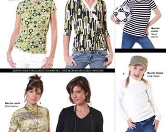 Women's T-Shirts - 2805 by Jalie Patterns