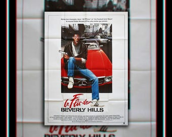 BEVERLY HILLS COP (1984) Eddie Murphy Very Rare 4 x 6 ft french Grande Fold Giant Movie Poster Original Vintage Collectible