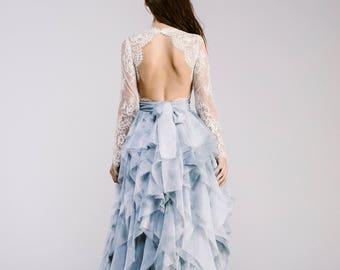 Wedding Separate - Helene Bodysuit - Open Back Wedding Dress - Classic Wedding Dress - Long Sleeve Wedding Dress - Lace Wedding Dress