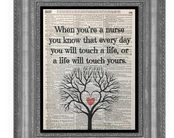 Nursing Print, Nurse Prints,Nursing,Nursing Gifts,Nurses Quote,Nurses Heals Souls , Nurse Vintage,Vintage Dictionary Prints, Dictionary Art