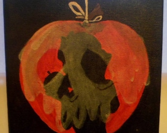 Snow white poisoned apple painting