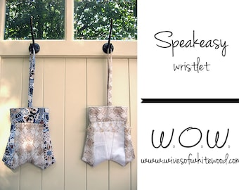 Speakeasy Wristlet PDF Sewing Pattern