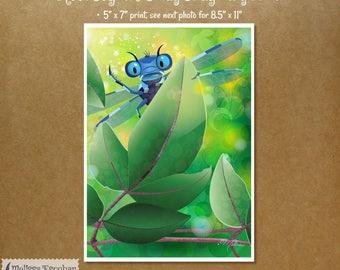 Meet Seginus Sway Print – Dragonfly – Illustration– Art Print - Fantasy Print