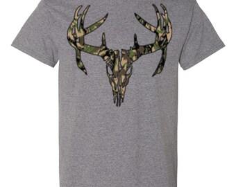 Deer Skull Camo-Heather Gray