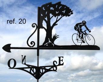 bicycle rider roof weathervane