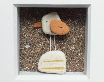 Scottish Sea Pottery Bird Picture - Bird Lovers Gifts - Handmade in Scotland - Scottish Artist - Coastal Interiors - Beach - Unique 3D Art