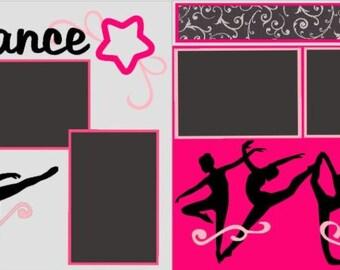 "Scrapbook 2 Page Layout ""Dance 2"""