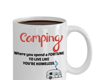Campfire Mug-Funny Camping Mugs-Camping-Camping Mug-Adventure Mug-Mountain Mug-Happy Camper Mug-Mountains Coffee, Home Is Where We Park It