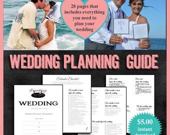 Wedding Planning Guide Digital Download PDF Planner