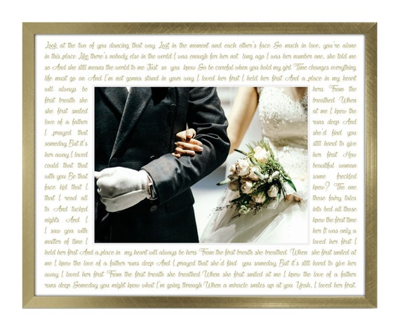 8x10 I loved her first - Personalized with lyrics to any song father ...