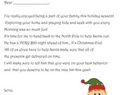 Items similar to Elf on the Shelf Goodbye Letter PDF Elf on the