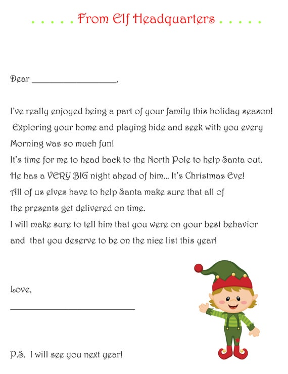elf on shelf goodbye letter Korestjovenesambientecasco